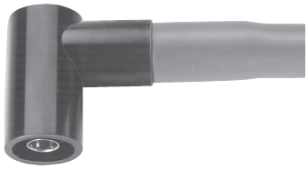Right angle connector for silicone hose