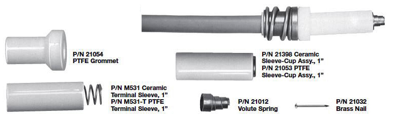 Lead Parts for Spark Plugs With 1 Inch Terminal Wells