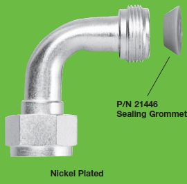 Nickel Plated Elbow Assembly